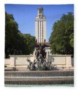 Littlefield Fountain - University Of Texas Fleece Blanket