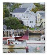 Lobster Fishing Boats Fleece Blanket