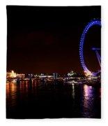 River Thames - London Fleece Blanket