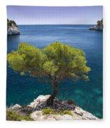 Lone Pine Tree Fleece Blanket