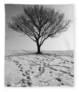 Lone Tree Winter Fleece Blanket