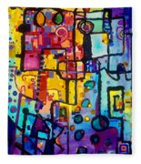 Lost Papers And Urban Plans Fleece Blanket