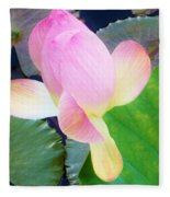 Lotus Lilly Fleece Blanket