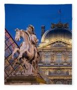 Louvre Twilight Fleece Blanket