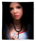 Love Struck Stethoscope Nurse Fleece Blanket