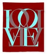 Love Typography Fleece Blanket
