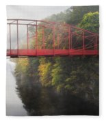 Lovers Leap Bridge Fleece Blanket