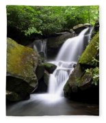 Lower Grotto Falls Fleece Blanket