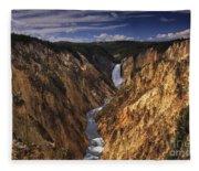 Lower Yellowstone Falls II Fleece Blanket