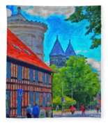 Lund Street Scene Fleece Blanket
