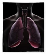 Lung Anatomy Fleece Blanket