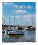 Lyme Regis Harbour 2 Fleece Blanket