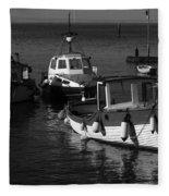 Lynmouth Harbour In Devon Fleece Blanket