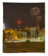 Madison New Years Eve Fleece Blanket