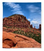 Madonna And Child Two Nuns Rock Formations Sedona Arizona Fleece Blanket
