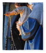 Madonna And Jesus Fleece Blanket