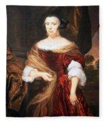 Mae's Portrait Of A Lady Fleece Blanket