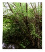 Magical Tree In Forest Fleece Blanket