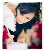 Maid Of Honour Signing Wedding Registar Fleece Blanket