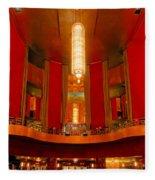 Main Lobby Radio City Music Hall Fleece Blanket