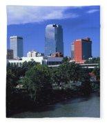 Main Street Bridge Across Arkansas Fleece Blanket