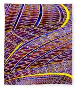 Making Tracks Fleece Blanket