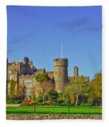 Malahide Castle  Fleece Blanket