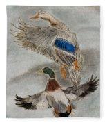 Mallard Pair Fleece Blanket