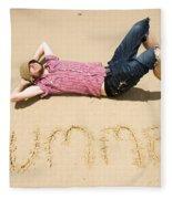 Man Of Summer Fleece Blanket