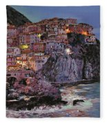 Manarola At Dusk Fleece Blanket