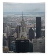 Manhattan From The Empire State Building Fleece Blanket