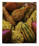 Many Colorful Gourds Fleece Blanket