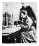 Marie And Pierre Curie Fleece Blanket