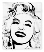 Marilyn What A Beautiful Girl Fleece Blanket