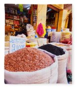 Market In Fes In Morocco Fleece Blanket