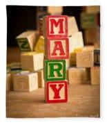 Mary - Alphabet Blocks Fleece Blanket