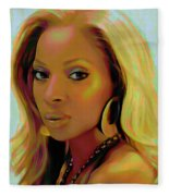 Mary J Blige Fleece Blanket