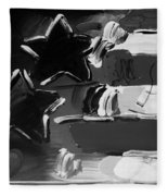 Max Americana In Black And White Fleece Blanket