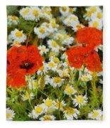 Meadow Flowers Fleece Blanket