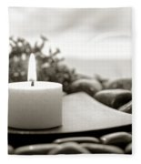 Meditation Candle Fleece Blanket