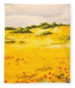 Mediterranean Landscape Fleece Blanket