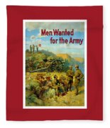 Men Wanted For The Army Fleece Blanket