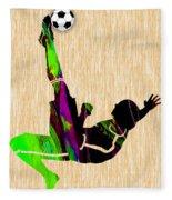 Womans Soccer Fleece Blanket