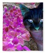 Meow 2 Fleece Blanket
