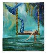Mermaids Lazy Lagoon Fleece Blanket