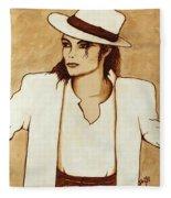 Michael Jackson Original Coffee Painting Fleece Blanket