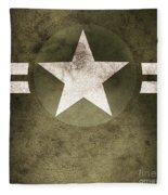 Military Army Star Background Fleece Blanket