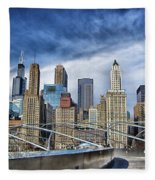 Millennium Skyline  Fleece Blanket