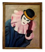 Mime With Thoughts Fleece Blanket