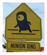 Minion Crossing Fleece Blanket